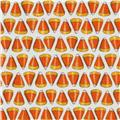 Moda Pumpkin Party Candy Corn Ghostly White
