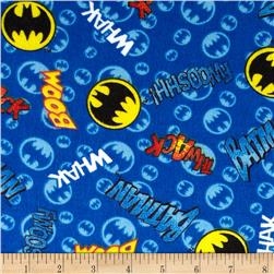 DC Comics Flannel Batman Words & Signs Dark Blue