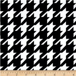Houndstooth Techno Scuba Knit Print Black/Ivory