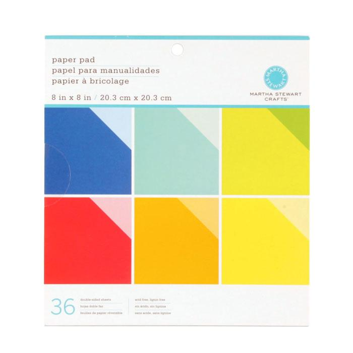 "Martha Stewart Crafts Paper Pad 8"" X 8"" Brights"