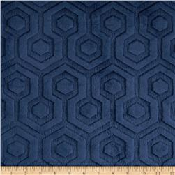 Premier Prints Embossed Geo Cuddle Navy