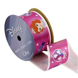 "1 1/2"" Sofia The First Ribbon Royals White"