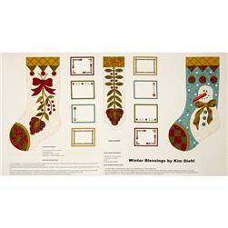 "Winter Blessings Stocking 24"" Panel Multi"
