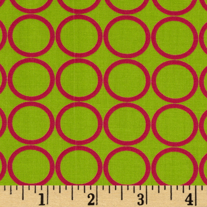 Metro Living Circles Lime Fabric