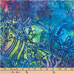 Artisan Batiks Totally Tropical Fish Blue Fabric