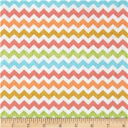 Timeless Treasures Owl Be Seeing You Chevron Sorbet