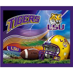 Collegiate Fleece Panel Louisiana State University Purple Fabric