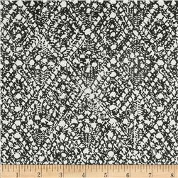 Designer Cotton Lawn Abstract Black/White