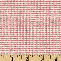 Wool Blend Coating Mini Plaid Pink/Grey