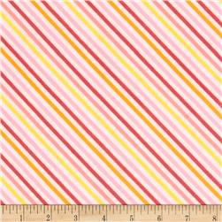 Riley Blake Fancy Free Flannel Stripe Pink Fabric