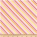 Riley Blake Fancy Free Flannel Stripe Pink
