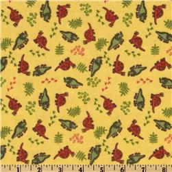 Camelot Flannel Dinosaurs Yellow