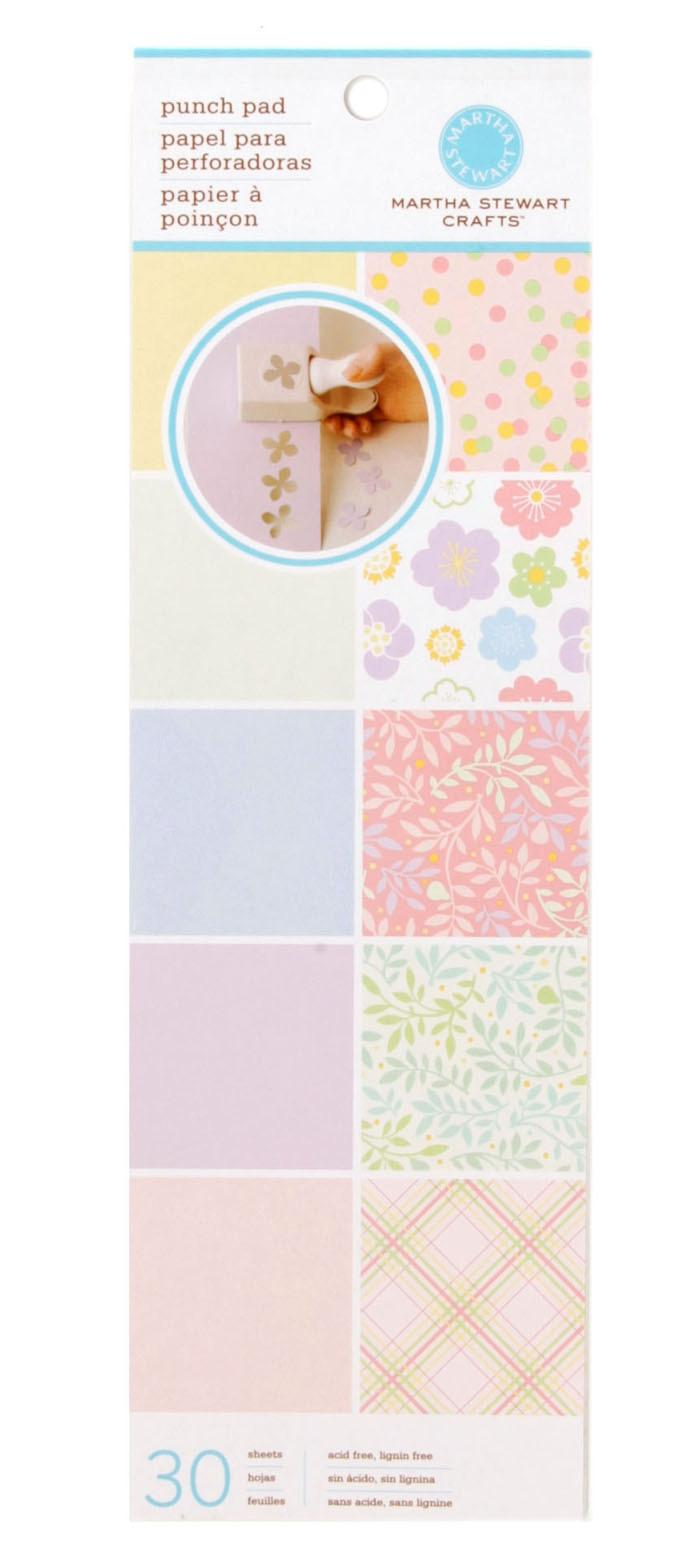 "Martha Stewart Crafts Punch Pad 4"" X 12"" Pastels"