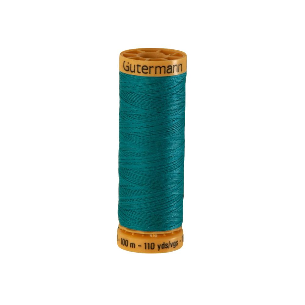 Gutermann Natural Cotton Thread 100m/109yds Teal Blue