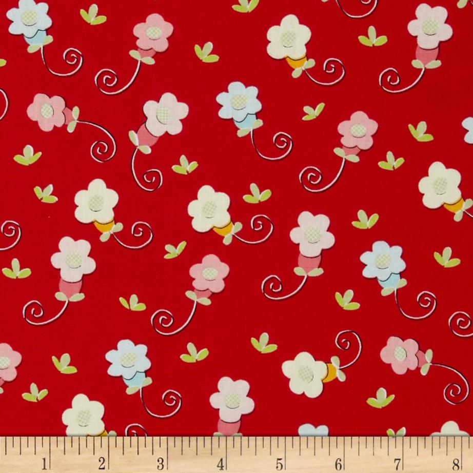 Sugar & Spice Small Daisy Red