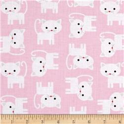 Kaufman Urban Zoology Kitties Pink