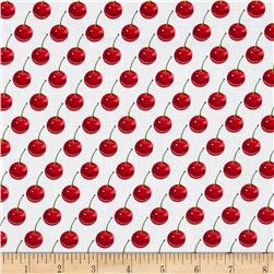 Kanvas Cherries Jubilee Cherry Dot White