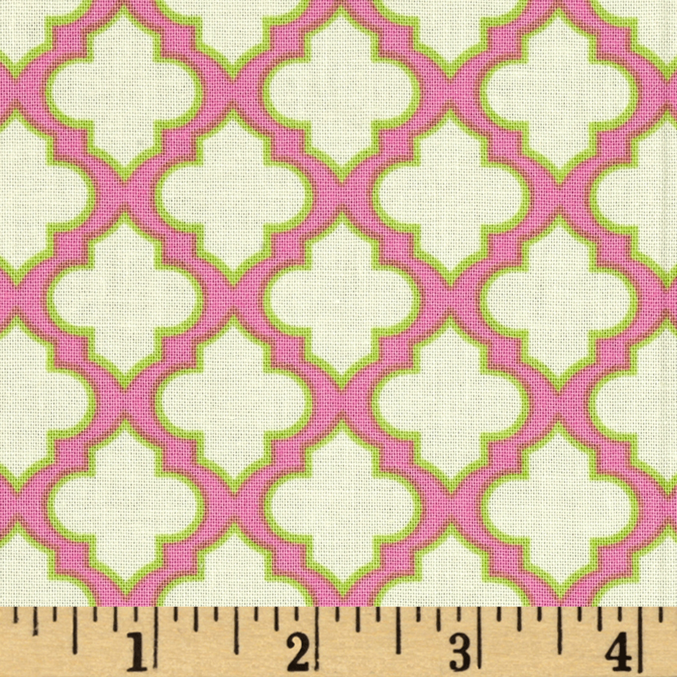 Heather Bailey Up Parasol Trellis Pink Fabric