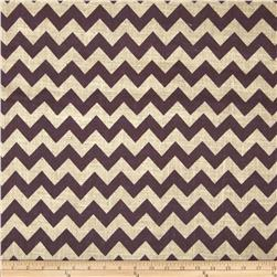 54'' Printed Burlap Chevron Wine