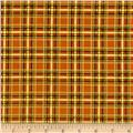 Timeless Treasures Holiday Plaids Metallic Tartan Plaid Negative Gold