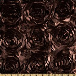 Lescada Satin Ribbon Rosette Chocolate