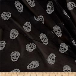 Chiffon Happy Skulls Black