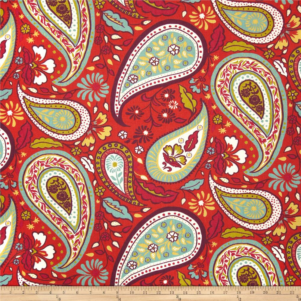 Robert Allen @ Home Crypton Art Paisley Poppy