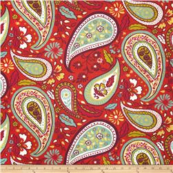 Robert Allen Crypton Art Paisley Poppy Fabric
