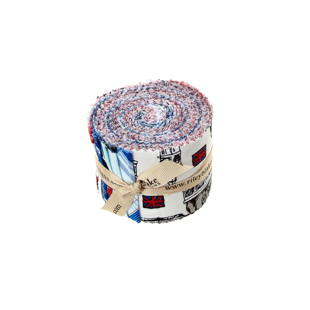 Riley Blake British Invasion Rolie Polie Multi