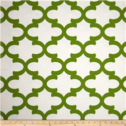 Premier Prints Fynn White/Kelly Green Fabric
