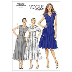 Vogue Misses' Dress Pattern V8577 Size BB0