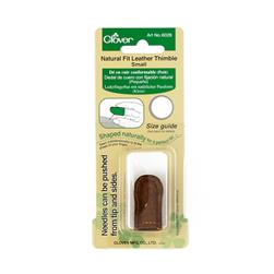 Clover Natural Fit Leather Thimble Small