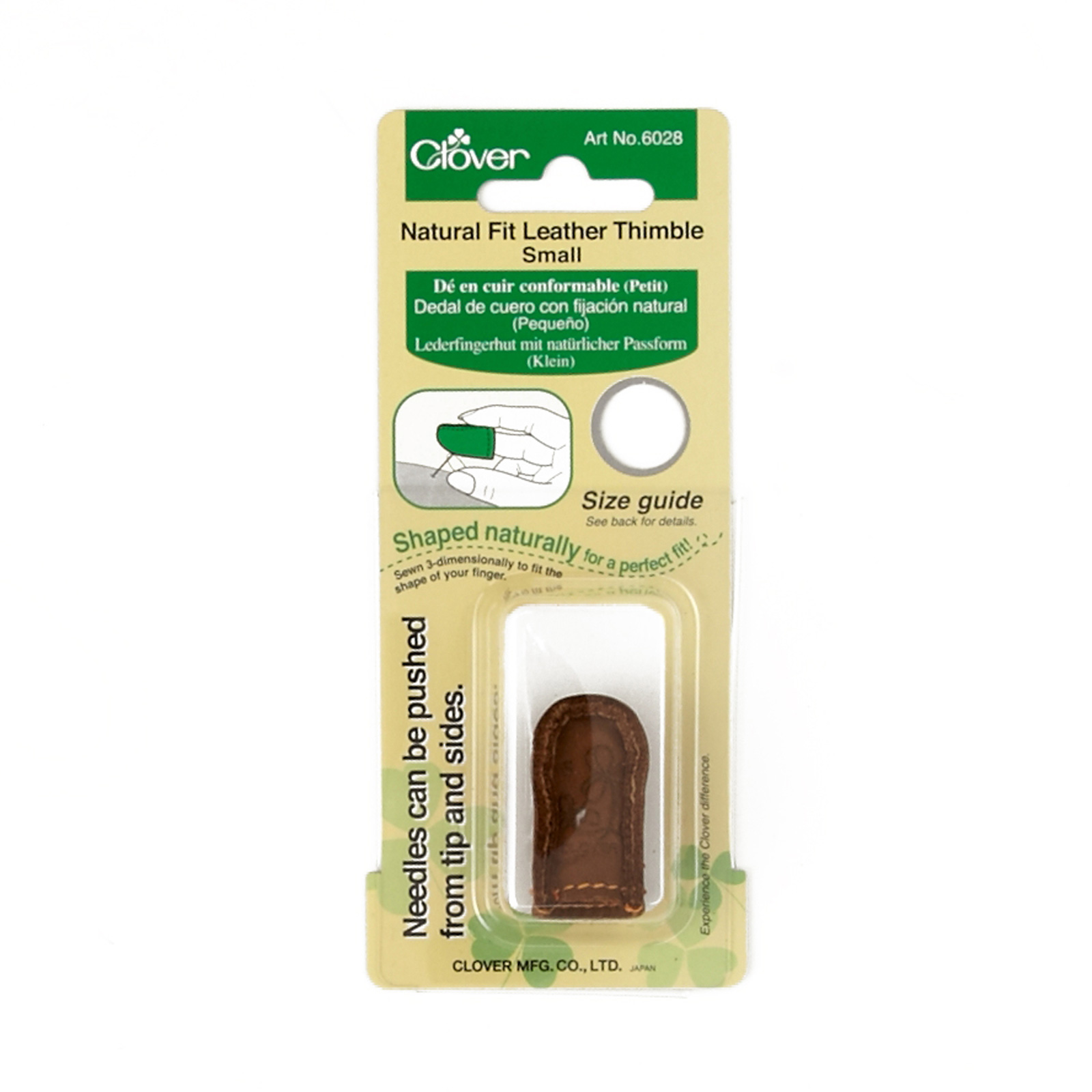 Clover Natural Fit Leather Thimble Small by Clover Needlecraft in USA