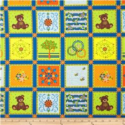 Mystic Forest Animal Blocks Blue