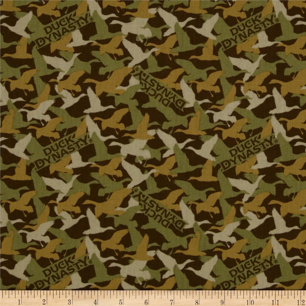Duck Dynasty Duck Camo Brown Discount Designer Fabric