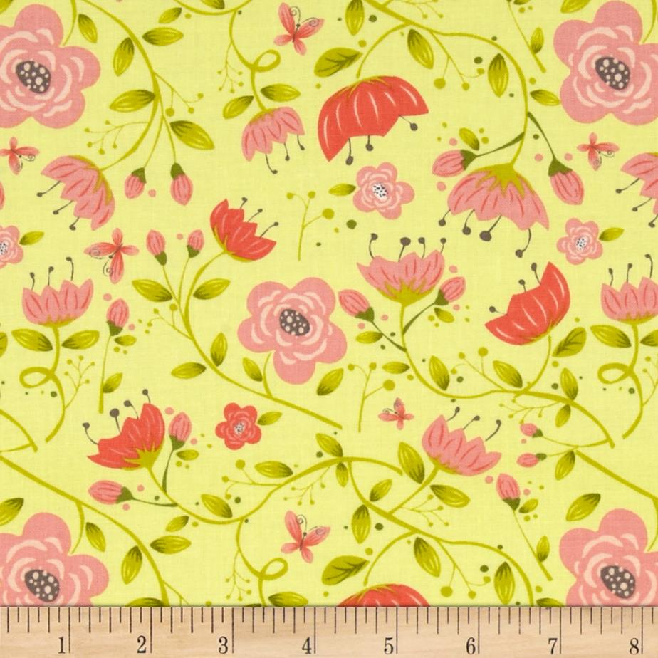 It's A Bird's Life Floral Yellow