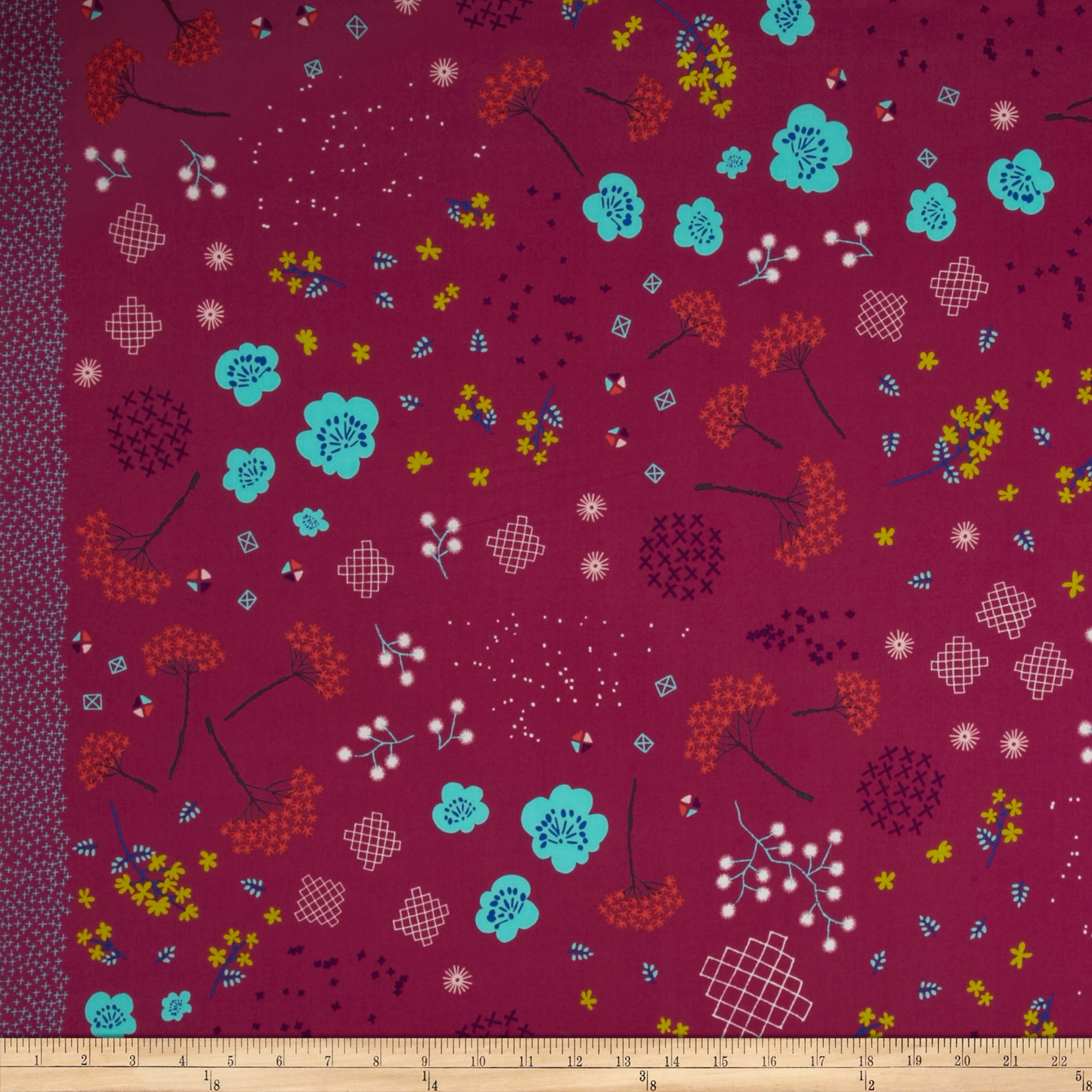 Cotton + Steel Mochi Lawn Mochi Floral Pink Fabric by Cotton & Steel in USA