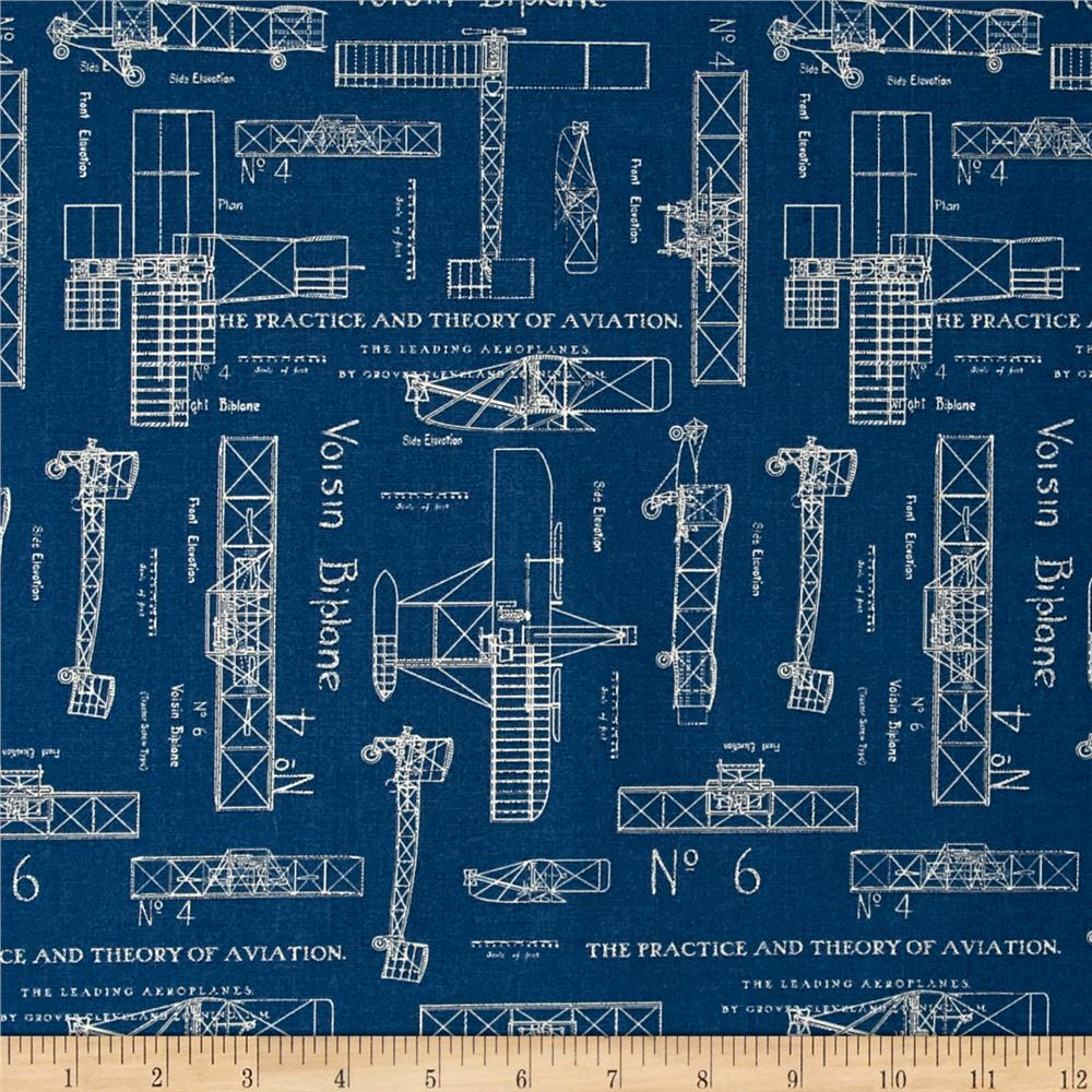 Theory of Aviation Blueprint Blue