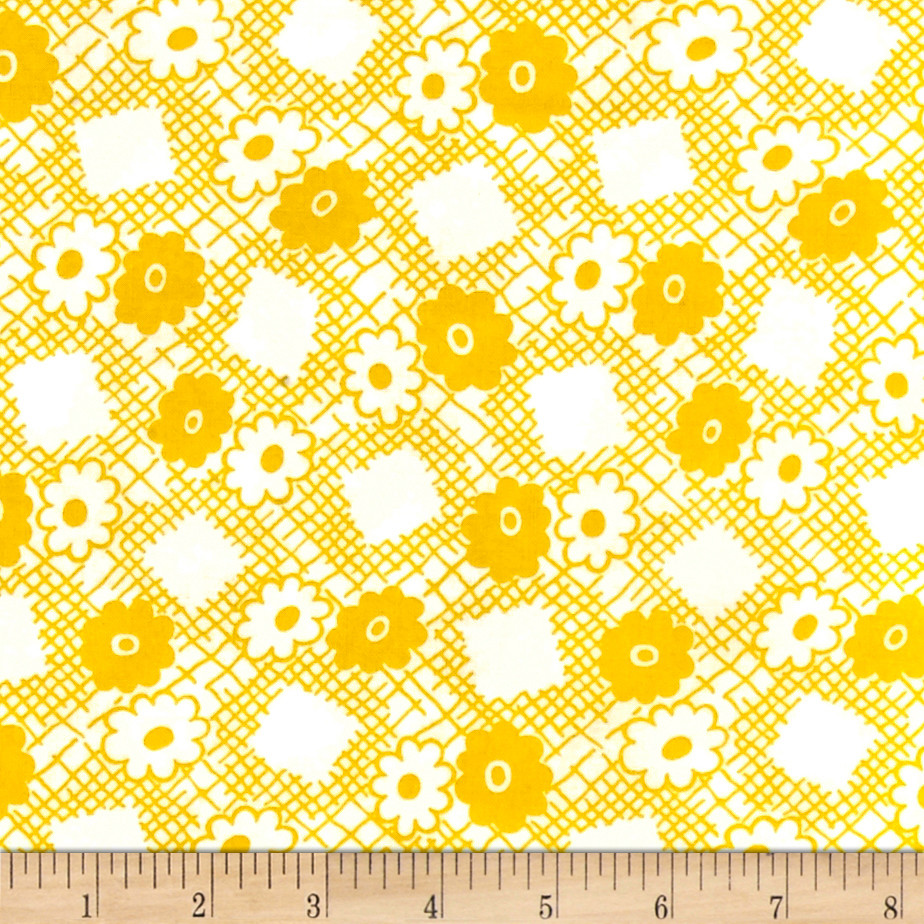 Image of Everything But The Kitchen Sink Picnic Butter Fabric