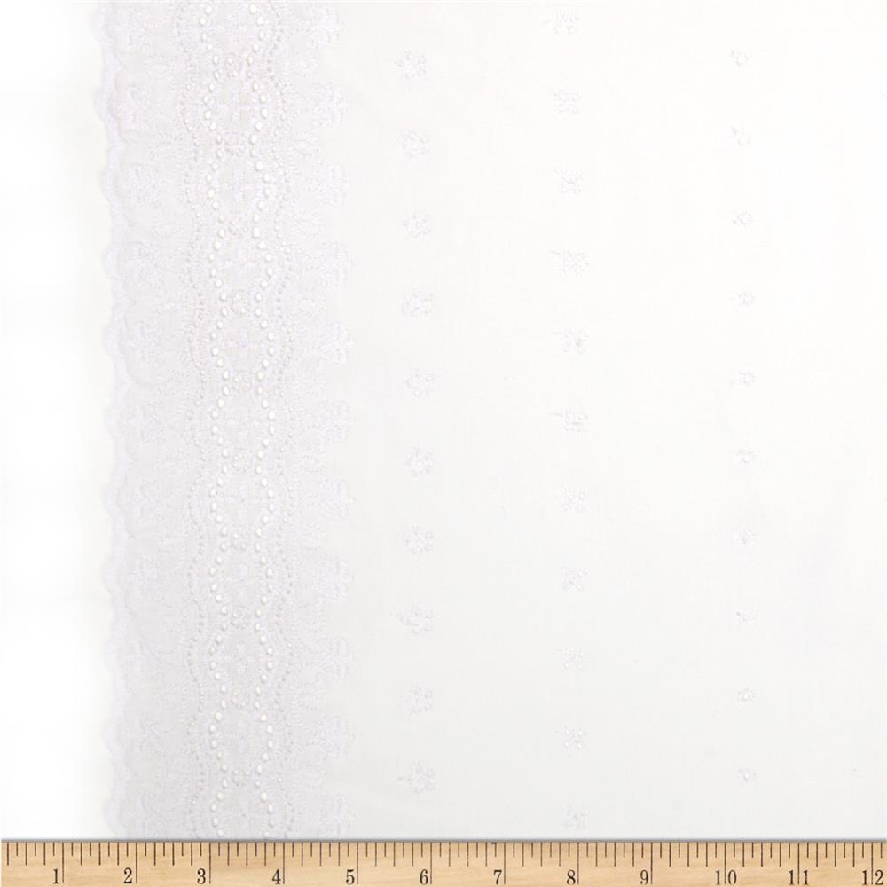Imperial Eyelet Flounce 3.5'' Royal Border White
