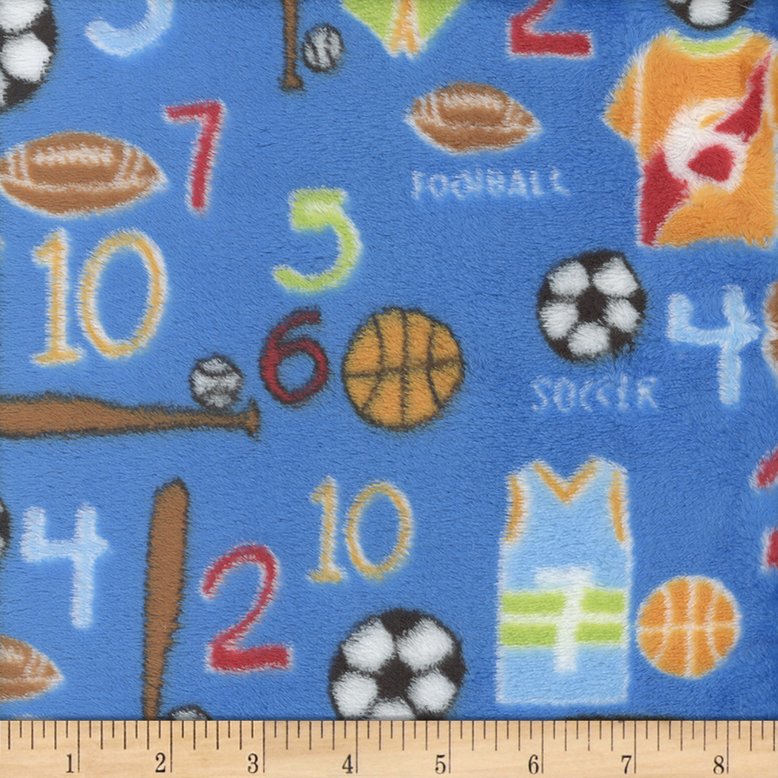 INOpets.com Anything for Pets Parents & Their Pets Super Soft Velour Fleece Sports Blue Fabric