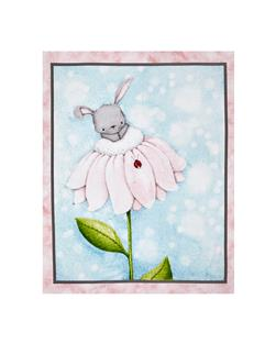 "Bunny Love Bunny 35"" Panel Blue"