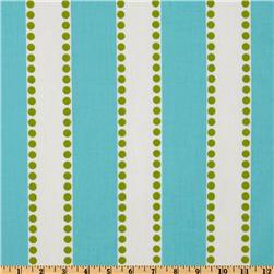 Premier Prints Lulu Stripe Twill Girly Blue/Chartreuse