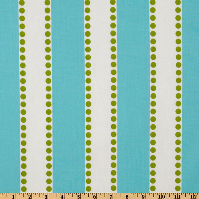 Premier Prints Lulu Stripe Twill Girly Blue/Chartreuse Fabric