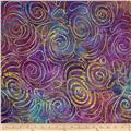 Indian Batik Amber Rose Embroidered Purple