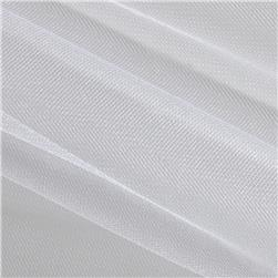 Shiny Tulle White Fabric
