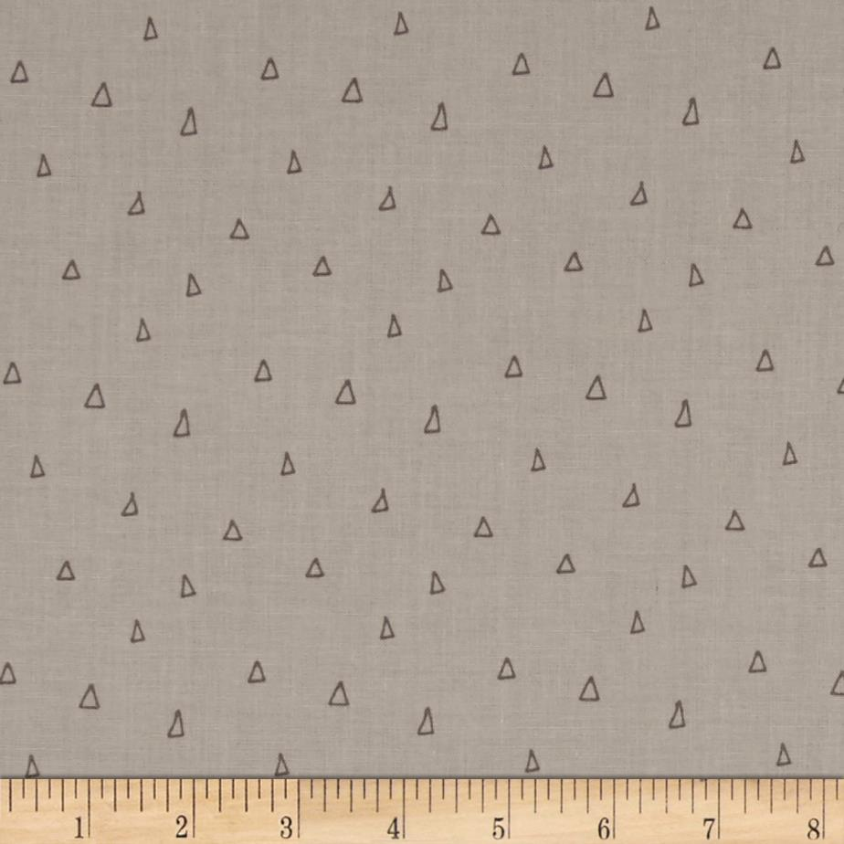 Hello, My Deer Scattered Triangles Light Taupe