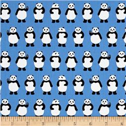 Kaufman Sevenberry Mini Prints Pandas Sky