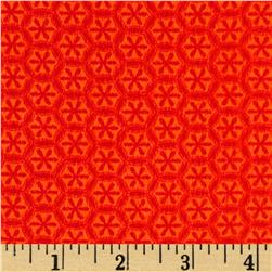 Kanvas Knitty Kitty Flannel Knit Flower Orange