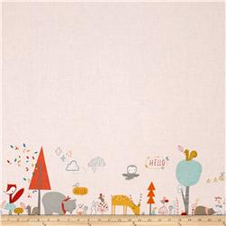 Blend Faraway Forest Beneath The Tree's Border Print Pink